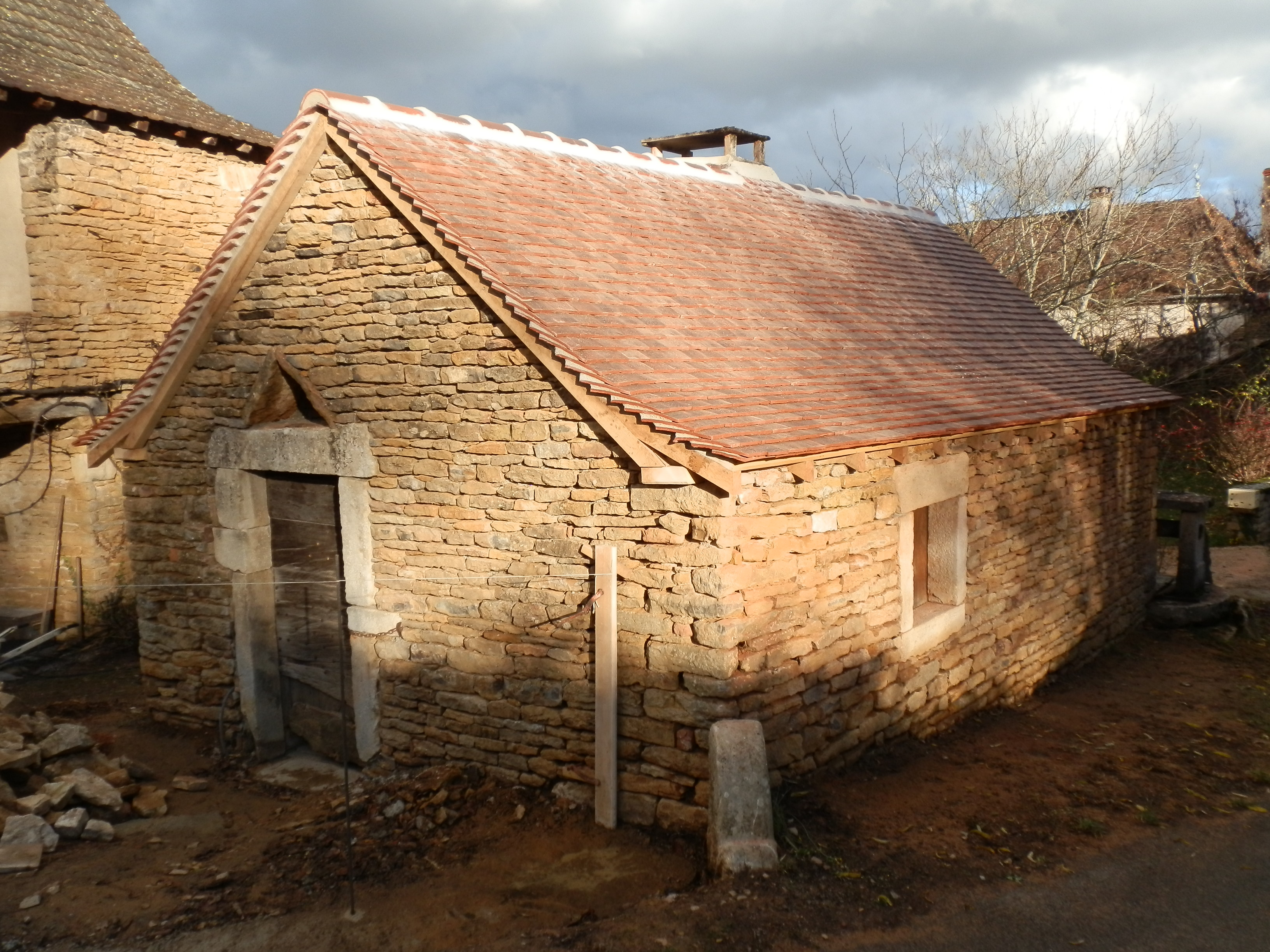 Bread oven building after renovation